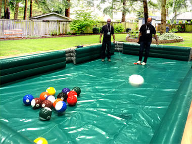 Jax Jumpers You Pool Table Inflatable Game - Human pool table
