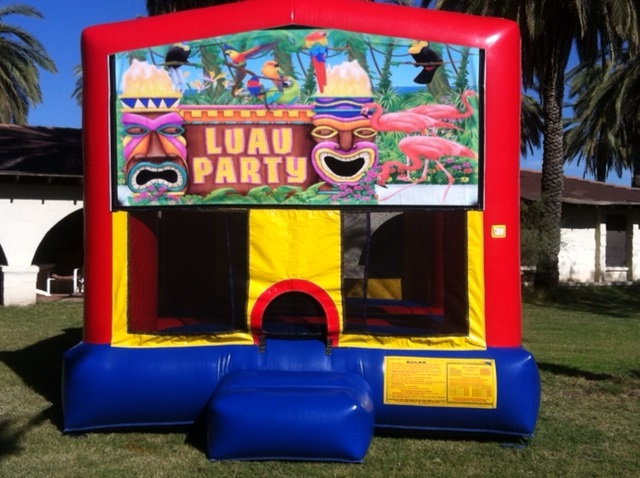 Tropical Luau Themed Bounce House Rental
