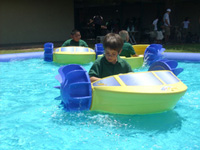 Kid powered Paddle Boats