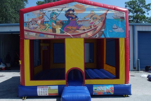 pirates banner bounce house