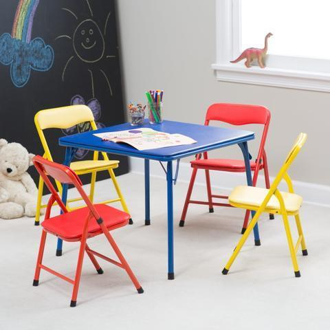 Children's table and chairs multicolour set