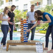 Giant Tower Topple Game