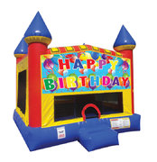 Happy Birthday Castle w/Blue Panel #4 #5