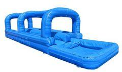 Inflatable double lane slip and slide(Blue)