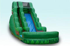 16Ft Inflatable Tropical Water slide with pool (green)