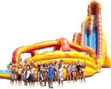 27Ft. Lava Twist water slide with double lane slide