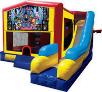 Rock star inflatable combo 7in1
