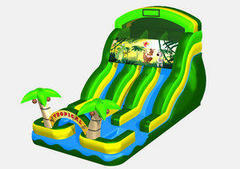 18Ft. Double lane Tropical water slide