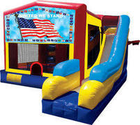 Patriotic Inflatable combo 7in1