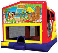 Luau 4in1 Inflatable bounce house combo