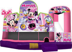 A-Minnie Mouse 5in1 Inflatable Bounce House Combo