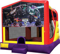 Monster truck (2) 4in1 Inflatable bounce house combo