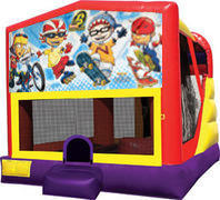 Rocket Power 4in1 Inflatable bounce house combo