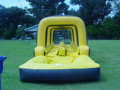 A Double Lane Inflatable Slip & Slide water slide(black)