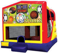Sports 4in1 Inflatable bounce house combo