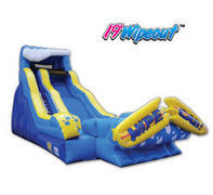19Ft. Inflatable Wipeout water slide with stop pool