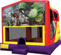 Zombies vs. Plants 4in1 inflatable bounce house