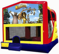 Madagasgar 4in1 Inflatable bounce house combo
