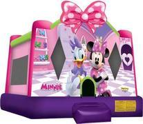 A-Minnie Mouse bounce house