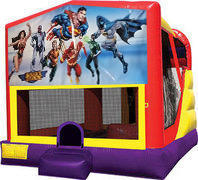Justice league 4in1 Inflatable bounce house combo