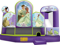 A-Princess and the Frog 5in1 Inflatable bounce house combo