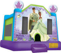 A-Princess and The Frog Inflatable bounce house