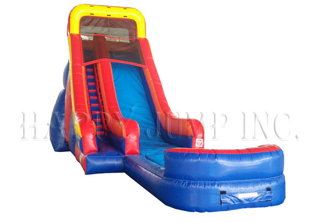 20 ft Red and Blue Water Slide