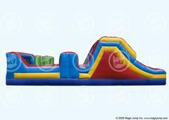 32 Ft Obstacle Course with Dual Slide