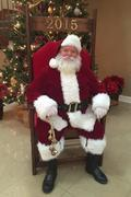 Santa Claus with Wood Santa Chair*