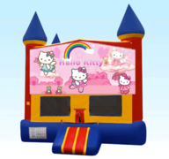 Hello Kitty Red Castle Moonwalk