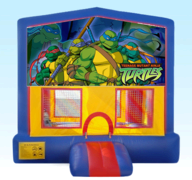 Ninja Turtles Blue Bounce House