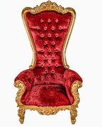 RED & GOLD SWEDE SINGLE THRONE CHAIR