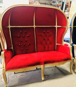 RED & GOLD SWEDE DOME LOVESEAT