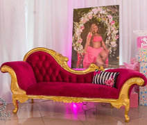 HOT PINK & GOLD CHAISE