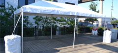 10x20 Tent table and chairs