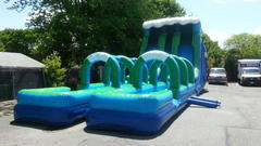25ft 2 lane water slide