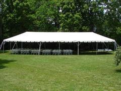 20X60FT White Party Tent, Chairs & Tables