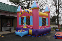 pink bounce house 13x13 #2