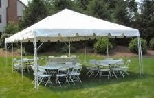 20X20FT White Party Tent, Chairs & Tables