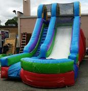 15FT Red, Blue and Green Water Slide