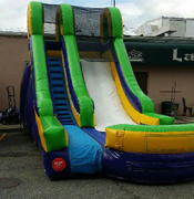 15FT Purple Yellow and Green Water Slide