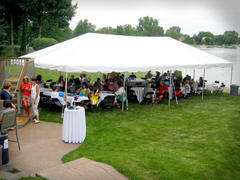 20X40FT White Party Tent, Chairs & Tables