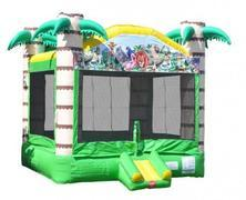 Tropical Wild Animal Bounce House