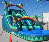 Tropstacle 18ft Dual Water Slide w/ Pool 45