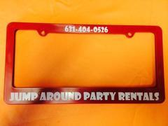 jump around party rental license plates cover