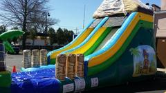 15FT Tiki Island Water Slide