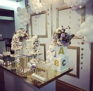 White & Gold Table
