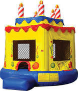 Round Birthday Cake Bounce House