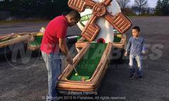 Inflatable Miniature Golf Course