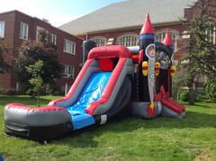 Rocket Ship Combo Bounce House Wet or Dry